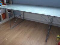 Glass / Metal Office Desk - Collection Bonnyrigg, Midlothian