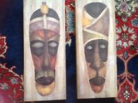 Picture Canvasses Tribal Art x2