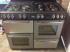 Belling Stainless Steel & Black Gas Cooker