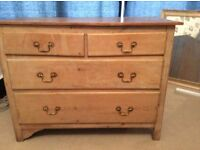 Solid wood drawers. Ideal chabby chic project bargain at £30 .