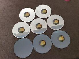 "8 Round Mirror, Table Centre Pieces, 10"" diameter."