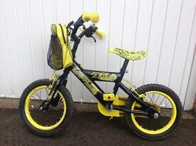 Child's bicycle. Dinosaur design