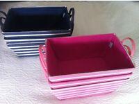 2 sets of 3 Jojo Maman Bebe storage baskets (1 pink, 1 navy) - each set of 3 baskets £5