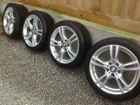 "Bmw 18"" m sport alloy wheels f30/f31"