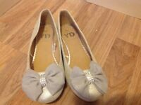 Three pairs of Girls size 1 shoes in immaculate condition and will sell separately