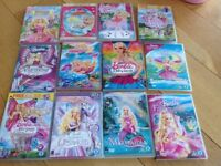 Barbie DVDs, as new, original packaging, 12 DVDs