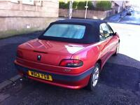 Red Peugeot 306 Cabriolet Coupe Spares /Restoration