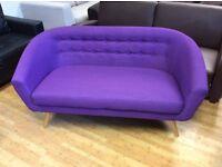 Purple Athena 2 Seater Sofa - Ex Display £149 inc Free Local Delivery