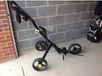 3 wheeled golf trolley