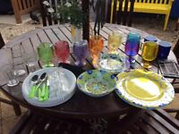 Various melamine/ plastic camping/caravan/garden stuff