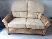 Conservatory whicker 2 piece sofa and chair