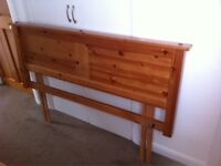 Double wooden headboard