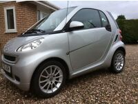 Smart Fortwo Passion 84bhp. FSH. MOT November 2017. Heated Seats. Sat nav. One previous lady owner.