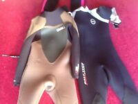 3 wetsuits for sale very good condition