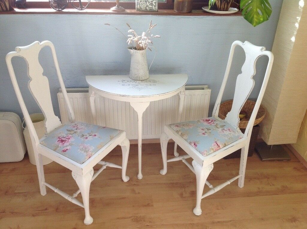 2 French Shabby Chic Chairs Laura Ashley
