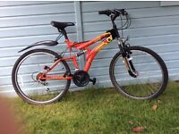 Mountain bike, Universal V Frame, 3 years old, used 4 times, good condition