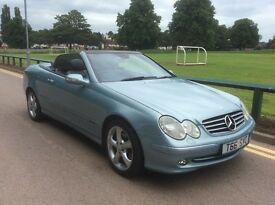Mercedes 320 clk advantgarde cabriolet convertible poss p/x swap.