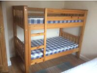 Solid Pine Shorty Bunks with matteress