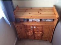 Nursery teddy bear changing unit/cupboard