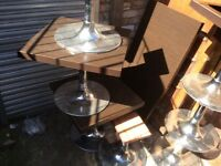 Must go today 6 x pub chrome base coffee tables