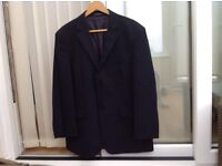 Gentleman's navy three two buttoned suit