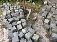 Reclaimed granite cobbles/setts