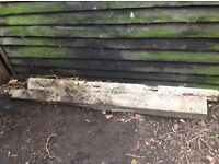 2 x old style gate posts fence posts