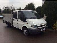 Transit lwb truck with tailift 125 model alloy body 2004 crewcab