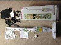 Morphy Richards 12 in 1 steam mop cleaner used once RRP £65 immaculate + box instructions & tools