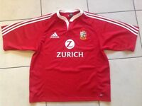 Rugby Jersey - Original British Lions Tour of New Zealand 2005 XL Mens