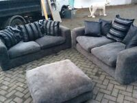 Two sofas and rest chair