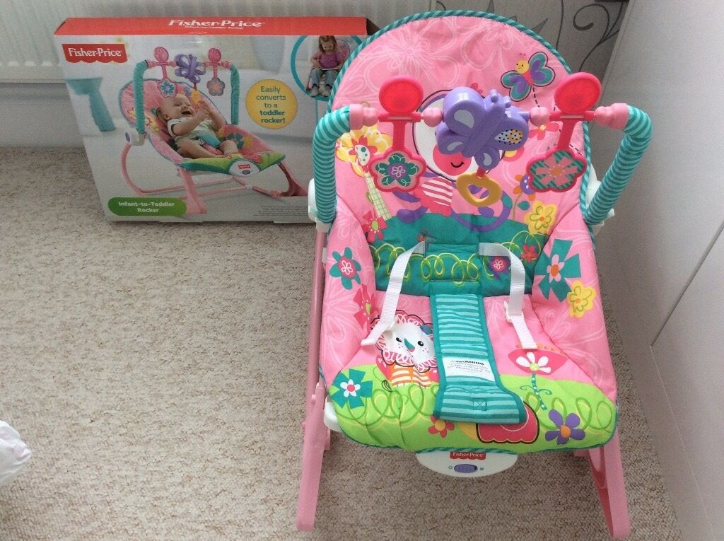 Fisher Price Infant to Toddler Rockerin Portsmouth, HampshireGumtree - Fisher Price Infant to Toddler rocker. Its a rocker or stationary seat for feeding or sleeping, features soothing vibrations, detachable toy bar, and support straps to keep baby secure, suitable from birth to 18 kg, it looks brand new and in...