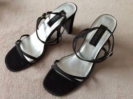 Ladies Black Strappy High Heels