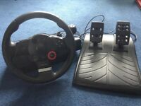 Logitech driving force GT steering wheel for PS3/PC