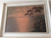 'Mauio' Sunset on water oil on canvas