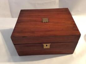 Victorian writing box .