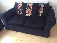 X2 FABRIC FLORAL PATTERN TWO SEATER SOFAS
