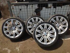 BMW 19 inch Spider alloys genuine legal tyres all round