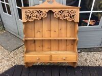 Very nice pine kitchen wall unit with 2 drawers