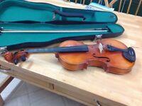 Violin Suzuki Full Size ,case ,bow and chin rest
