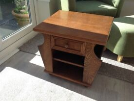 Retro style bedside table or small coffe table with magazine storage
