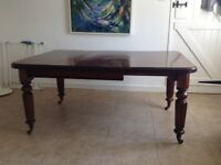 Victorian mahogany dining table and 6 chairs