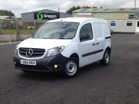 2015 MERCEDES CITAN 109 CDI BLUE EFFICIENCY. ONLY 24000 MILES. 2 SIDE LOADING DOORS. PLY LINED ETC.
