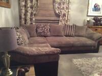Beige Corner Suite & Swivel Chair