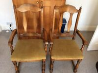 2 Carver Dining room Chairs