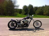 Chopper with Harley Buell motor