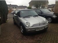 52 Mini Cooper long mot silver black roof good runner £1295