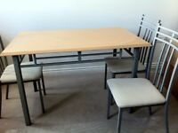 Dining Table and 4 Chairs - Good Condition - must go.
