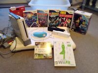 Wii console, Wii fit & games
