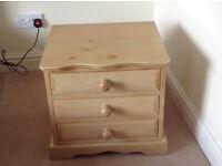 Bedside cabinet 48 cm wide x 45 cm high